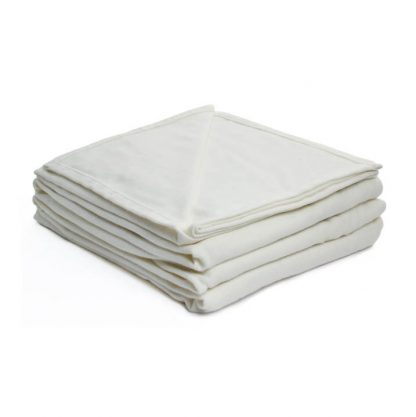 couverture coton crème