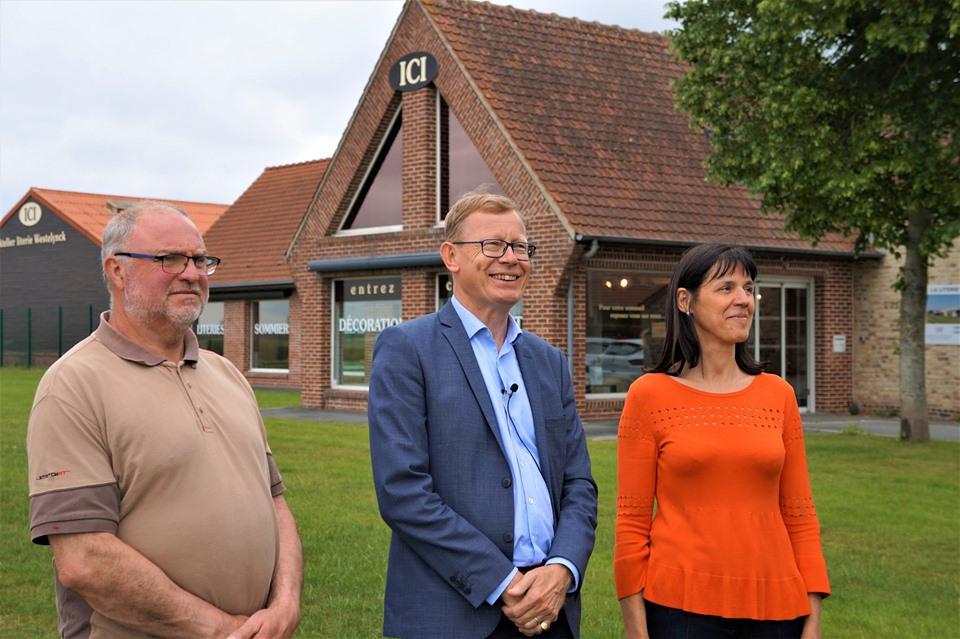 Visite de Mr Jean Pierre Bataille et de Mr Laurent Rigaud pour la Semaine de l'Artisanat