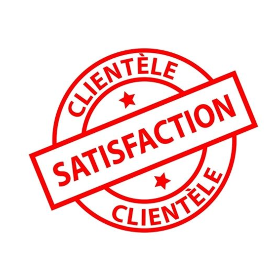 La satisfaction de nos clients, notre plus belle récompense….