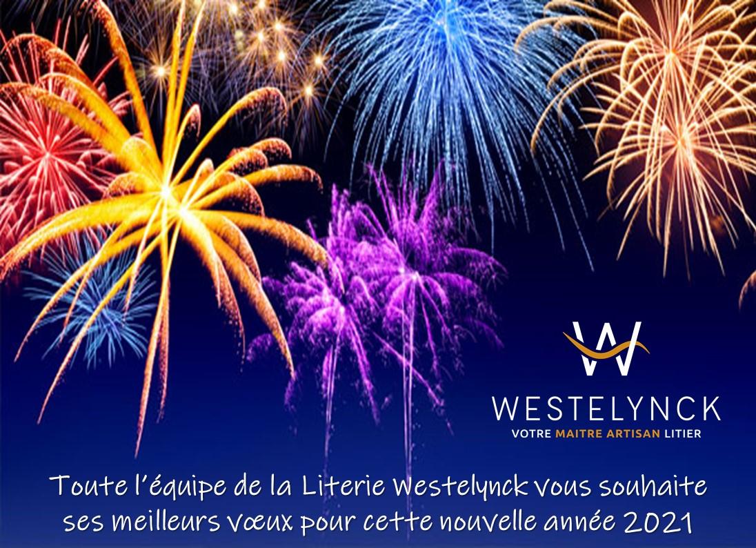 Toute l'équipe de la Literie Westelynck vous présente ses voeux pour cette nouvelle année 2021